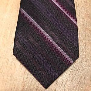 Van Heusen  Silk Purple Strip Tie NWT